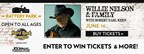 Willie Nelson & Family with Robert Earl Keen Concert Sweepstakes