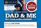 Dad & Me Look-alike Photo Contest