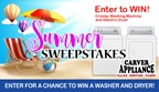 Carver Appliance Summertime Sweepstakes