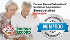 Pocono Record Subscribers Customer Appreciation Sweepstakes