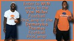 Enter to WIN entry to the Von Miller Football ProCamp or the Demaryius Thomas Football ProCamp!