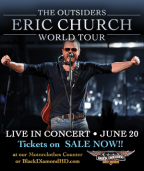 Win Eric Church tix from the Beaver 100.3