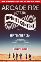 Arcade Fire Ticket Giveaway