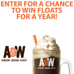 Win Floats for a year from A&W