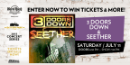 3 Doors Down & Seether Concert Sweepstakes