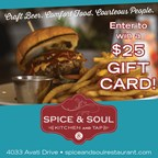 Win a $25 Spice & Soul Gift Certificate
