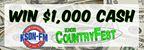 CountryFest $1,000 Cash Contest