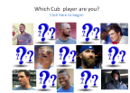 Which Cub Player Are You?