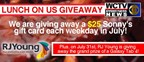 WCTV & RJ Young Lunch On Us Giveaway