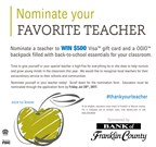 Bank of Franklin County - Thank Your Teacher