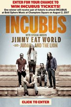 Incubus Ticket Giveaway
