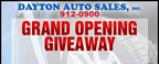 Dayton Auto Sales Grand Opening Giveaway!