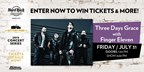 Three Days Grace with Finger Eleven Concert Sweeps