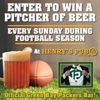 Win a Pitcher of Beer every Football Sunday at Henry's Pub!
