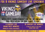 Fox 9's Vikings Gameday Live Giveaway