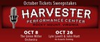 The Harvester: October Tickets Giveaway