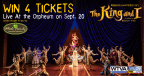 The King And I Ticket Giveaway
