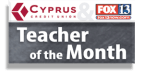 Cyprus CU Teacher of the Month Contest - Sept-May 2017-2018