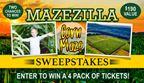 Mazezilla Corn Maze Sweepstakes