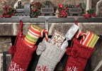Stocking stuffed with gift cards