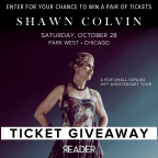 Shawn Colvin Giveaway - 10/11/17