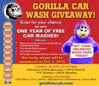 Gorilla Car Wash Giveaway