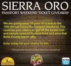 Sierra Oro Passport Ticket Giveaway
