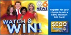 CBS 6 This Morning Watch & Win $600 Walmart Gift C