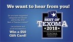 Best of Texoma 2018 Category Survey
