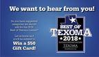 Best of Texoma 2018 Category Survey