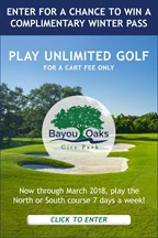 Bayou Oaks Winter Golf Pass Giveaway