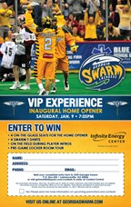Win a VIP Experience at the Georgia Swarm Inaugura