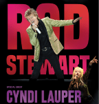 Rod Stewart at the Amway with special guest Cyndi Lauper