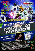 Pre-Pro Bowl Party at Mango�s Tropical Caf�