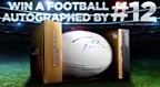 Enter To Win a Football Autographed By The GOAT 2.3