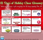 12 Days of Holiday Cheer Giveaway