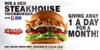 Win a New Steakhouse Thickburger from Carl's Junior