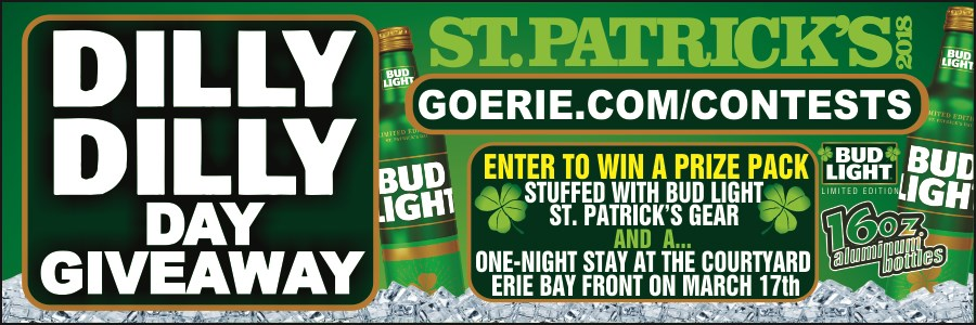 enter to win a prize pack stuffed with bud light st patrick s day gear