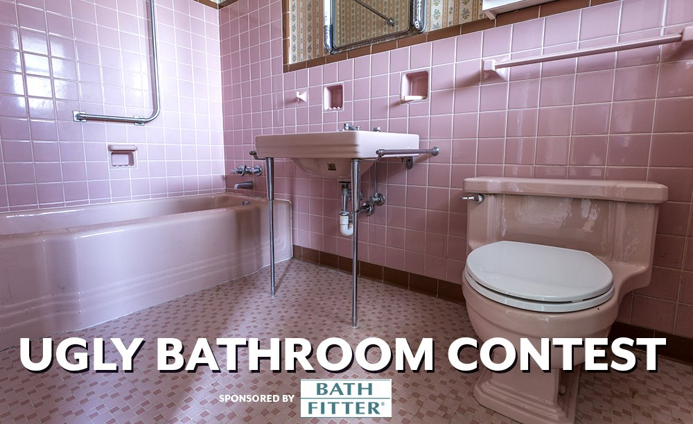 Do you think you have the ugliest bathroom? Share a photo for your chance to win a Delta In2ition Two-in-One Shower Head from Bath Fitter.