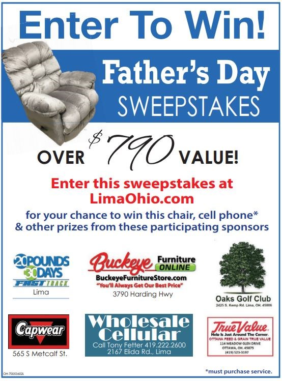 2018 Father's Day Sweepstakes - The Lima News