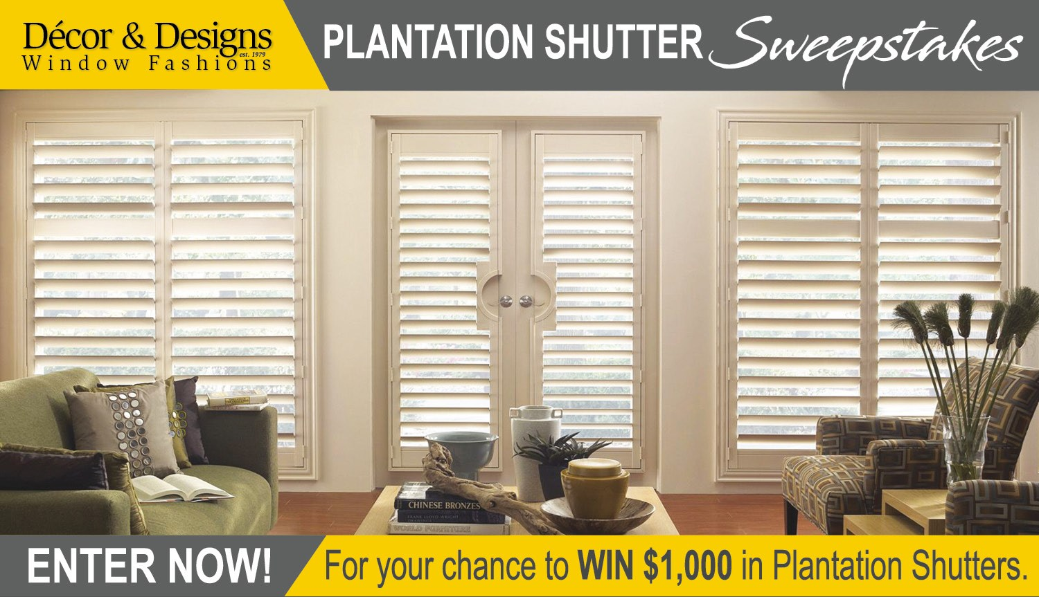 Plantation Shutter Sweepstakes Contests And Promotions