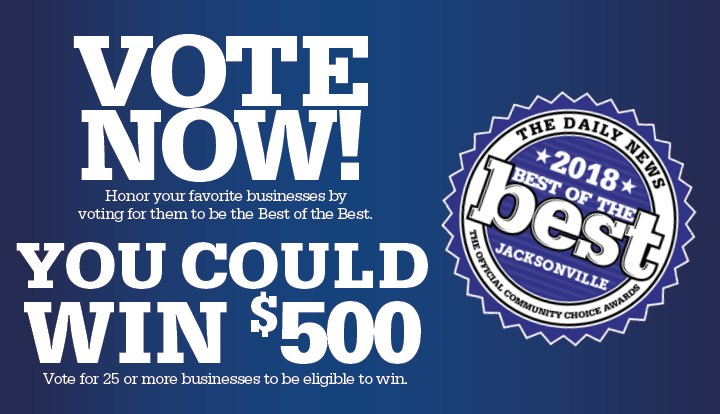 Vote For Your Favorite Businesses! Vote Once A Day Between July 24 And  August 14, 2018.