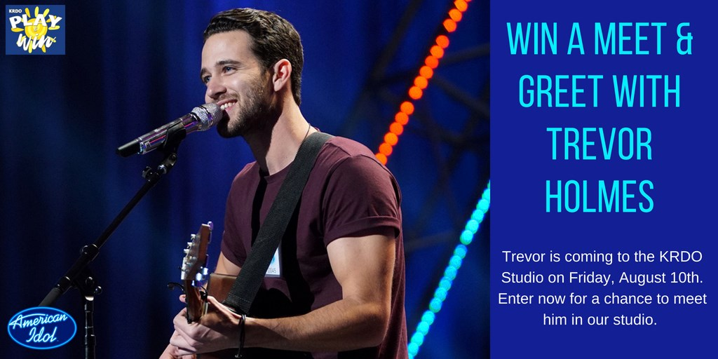 Meet former american idol contestant trevor holmes play win with krdo for a chance to meet trevor holmes former american idol contestant only 5 people will win if you win you will be invited to meet m4hsunfo
