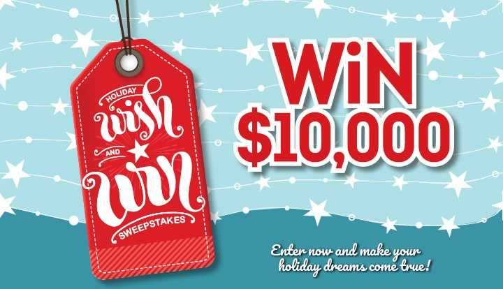the holiday wish and win contests and promotions echo pilot