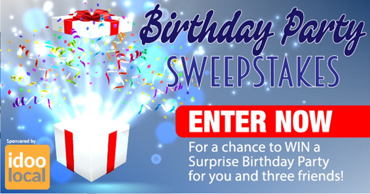 Birthday Party Sweepstakes - Contests and Promotions