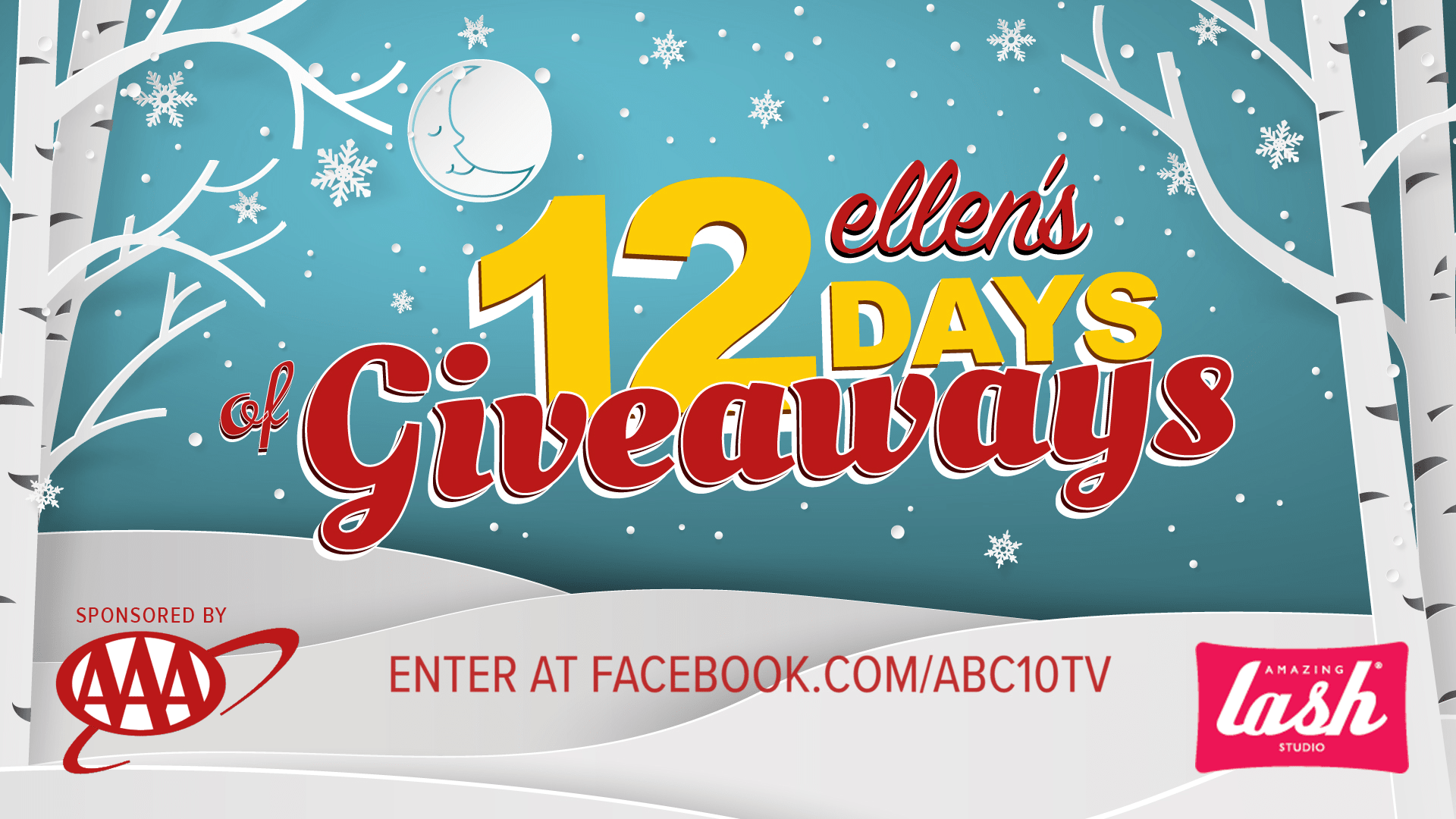 enter to win 2 tickets to see a live 12 days of giveaways ellen taping on november 26th