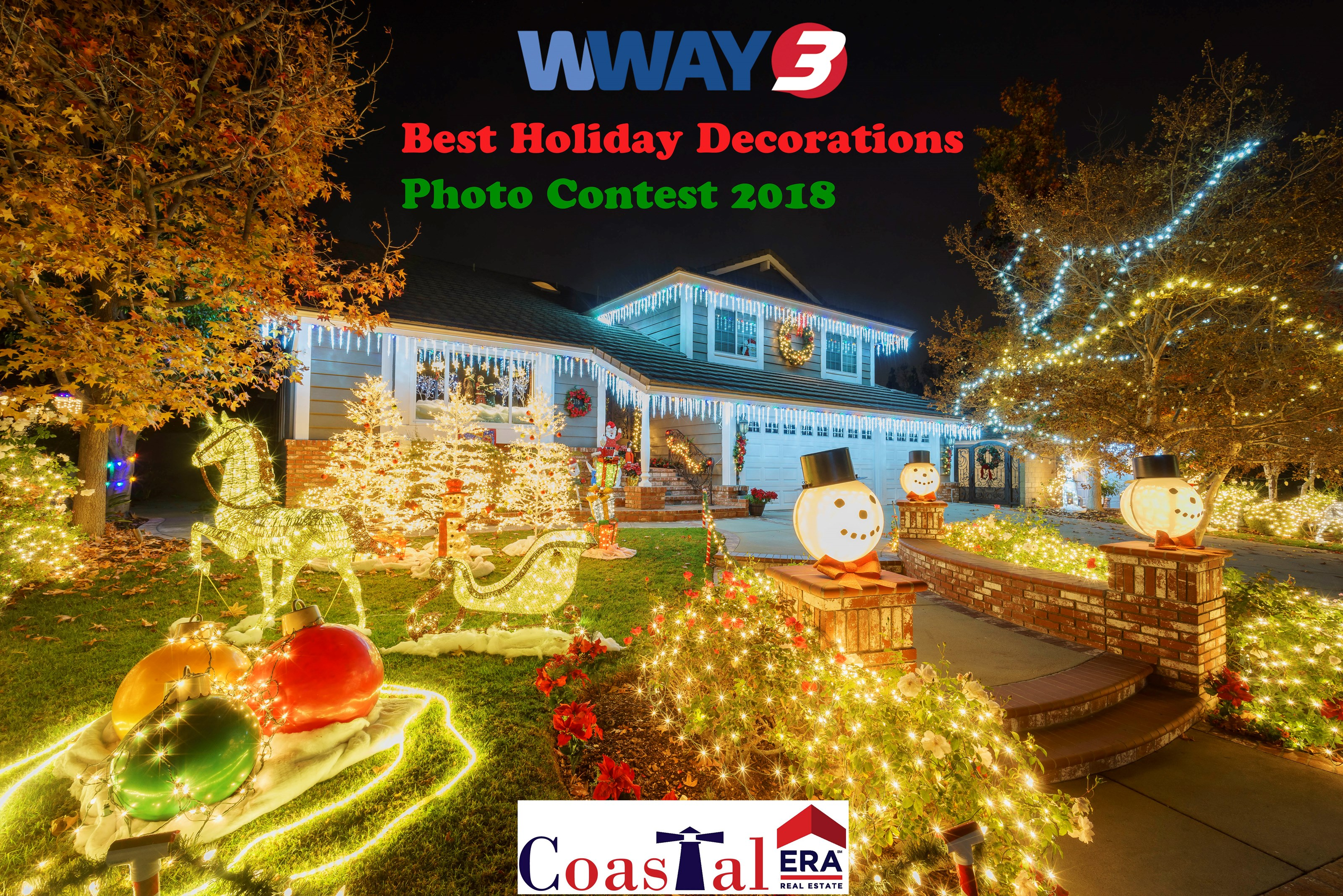 Brazilian Paradise Christmas - WWAY Best Holiday Decorations Photo Contest 2018