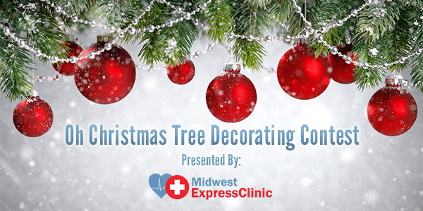 Images christmas decorating contest Red Country Living Magazine Midwest Express Clinic Urgent Care Christmas Tree Decorating Contest