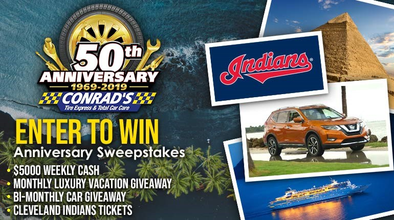 Conrad's 50th Anniversary Sweepstakes: Enter to Win!