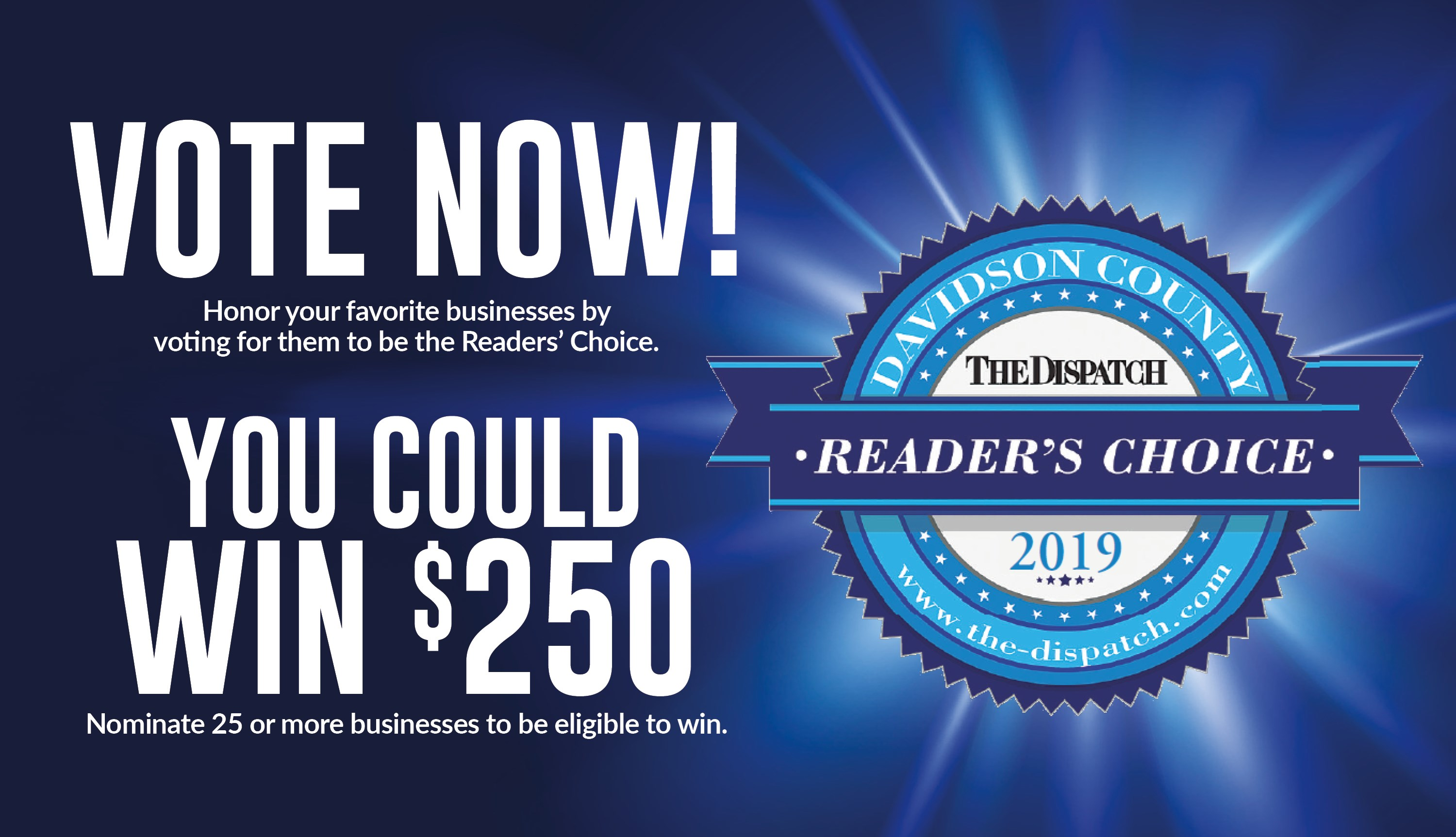 Readers Choice 2019 - Contests and Promotions - The Dispatch